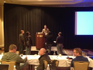 Cary Millsap getting questions after his presentation at Hotsos 2013