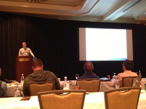 Kyle Towle giving his presentation at Hotsos 2013