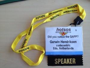 Gerwin Hendriksen Speaker Batch Hotsos 2013